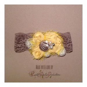 Other - Yellow flower lace headband